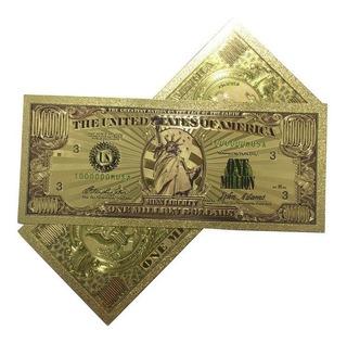 Billetes De La Suerte Un Millón De Dólares Dorado Laminado