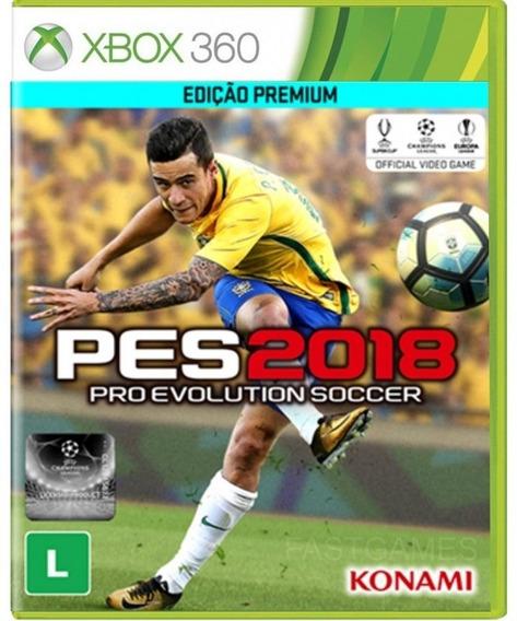 Pes 2018 Xbox 360 Pes 18-não É Cd E Nem Dvd Leia A Descrição