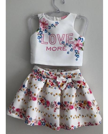 Conjunto Infantil Love Flores Bambollina
