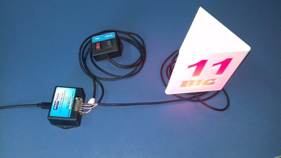 Kit Com 10 Luminaria Chama Fiscal A Led Mercado Caixa Pdv