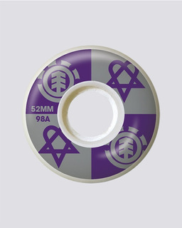 Ruedas Element Skate Patineta Bam Heartagram 52mm 99a Purple
