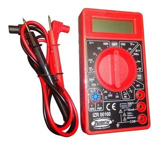 Tester Digital Multimetro Buzzer Zurich Zr160 Estudiantil