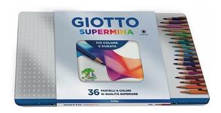 Lápis De Cor Giotto Supermina 36 Cores - Profissional - Lata
