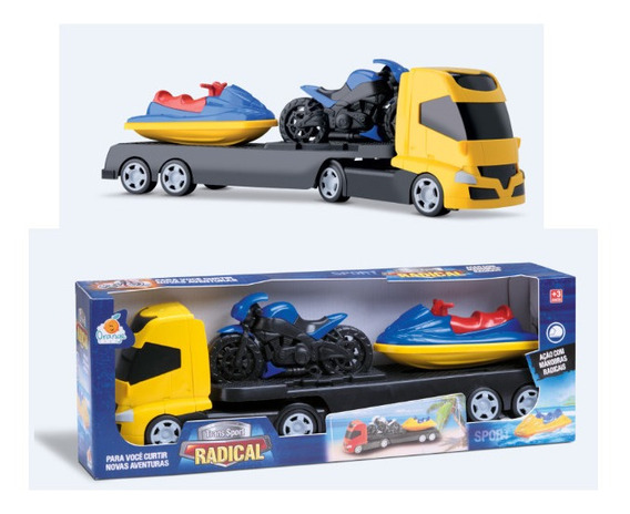 Brinquedo Caminhao + Moto + Jet Ski Sport Radical Infantil