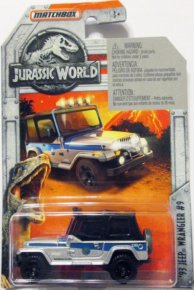 Matchbox Jurassic World ´93 Jeep Wrangler E1/64 Mide 6,5 Cm