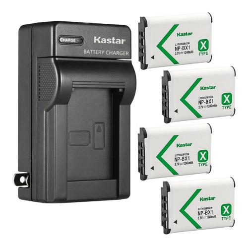 Imagen 1 de 1 de Kit 4 Baterías + Cargador Sony Np-bx1 Marca Kastar