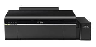 Impresora a color fotográfica Epson EcoTank L805 con wifi 110V negra