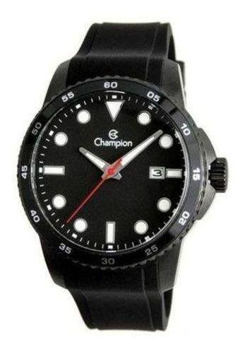 Relógio Masculino Esportivo Preto Champion Ca31686p Silicone