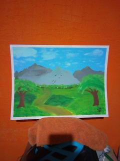 Pintura De Pradera En Pintura Acrílica