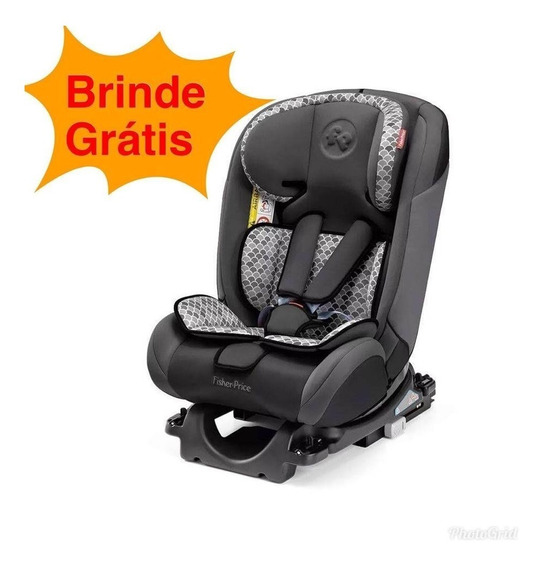 Cadeira Auto Isofix Fisher Price All Stages Fix 0-36kg Cinza