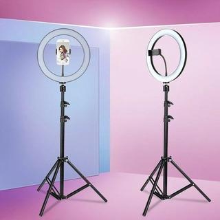 Aro De Luz Par Celular Con Tripode Profesional Selfi Fotos