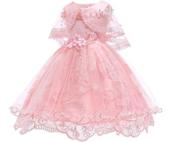 Vestido Infantil Para Aniversário, Casamento E Formatura.