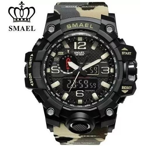 Relógio Masculino Digital Esportivo Militar Camuflado Smael