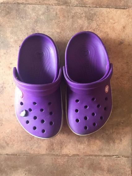 Crocs Violetas Talle J1 Poco Uso