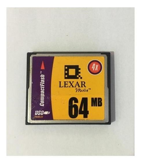Cartão De Memória Compact Flash (cf) Lexar 64mb