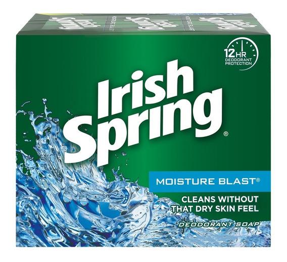 Jabón De Tocador Irish Spring Rafaga De Humedad 314 Grs