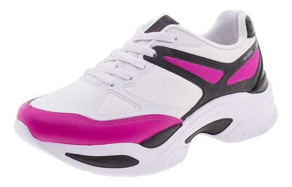 Tênis Feminino Chunky Trainer Preto/pink Azaleia - 885/523