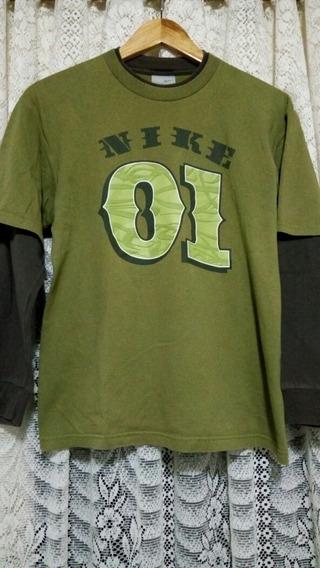 Remera Nike Mangas Largas Niño Talle 14-16