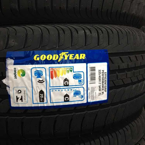 Kit 02 Pneus Goodyear 225/45 R17 Golf Jetta Civic