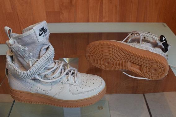 Nike Sf Air Force 1 Bone Bota Mayma #22.5mx Nuevo Sin Caja