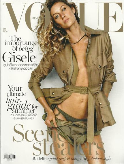 Vogue Tailandia 2015 Gisele Bundchen Frete Grátis