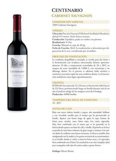 Vino Goyenechea Centenario Cabernet Sauvignon (caja X 6)