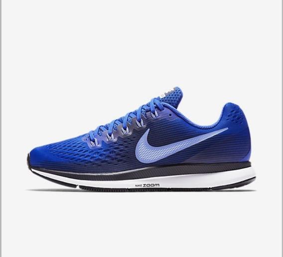 Zapatillas Nike Pegasus 34 Hombre Azul Running Cuotas S/int