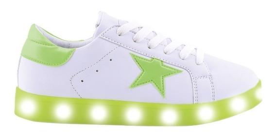 Zapatillas Footy Led Estrella Fluo - Tienda Footy