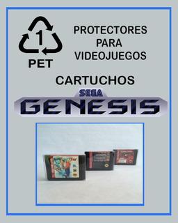 Pet Protector Cristalino Cartuchos Sega Genesis Mega Drive