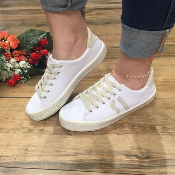 Tênis Feminino Casual Branco Confort Santa Liz By