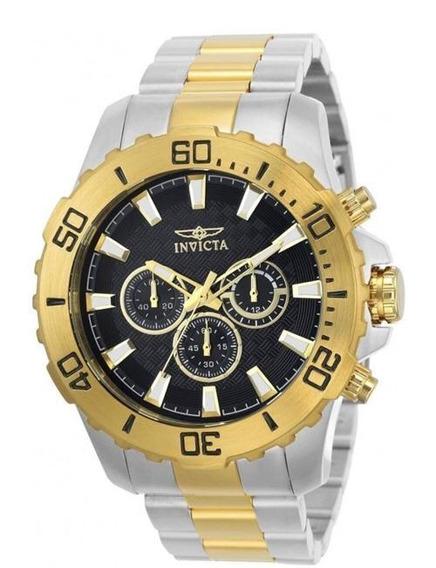 Relógio Invicta Pró Diver 22545- Ouro/prata - Original Novo
