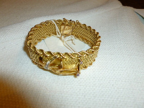 Pulsera Oro 18 K Dama Oro Florentino # 5