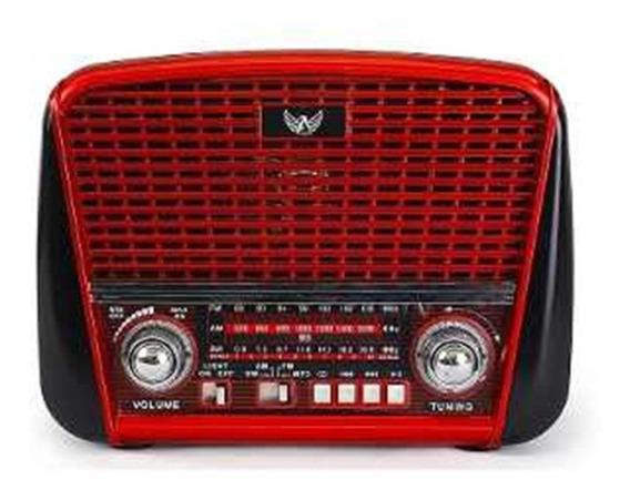 Rádio Retrô Bluetooth Antigo Vintage Fm Am Usb Sd Mp3