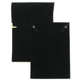 Envelope Veludo Grande Para Colar Preto