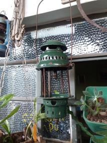 Lampiao Gas Antigo Verde Vintage (#2405)