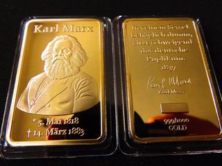 Lingote Karl Mark 1818 1883 Souvenir Color Oro