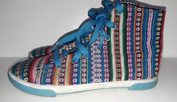 Zapatillas Botitas De Aguayo T.35/6 Suela De Goma Usadas
