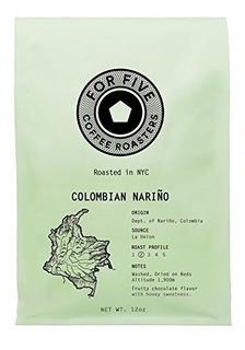 Para Cinco Tostadores De Café Colombiano Nariño Light Asad