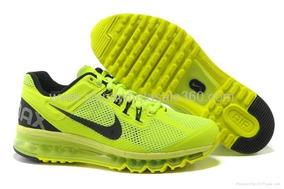 Tenis Nike Air Max 2013 Verde Limão E Preto Nº37 Original!