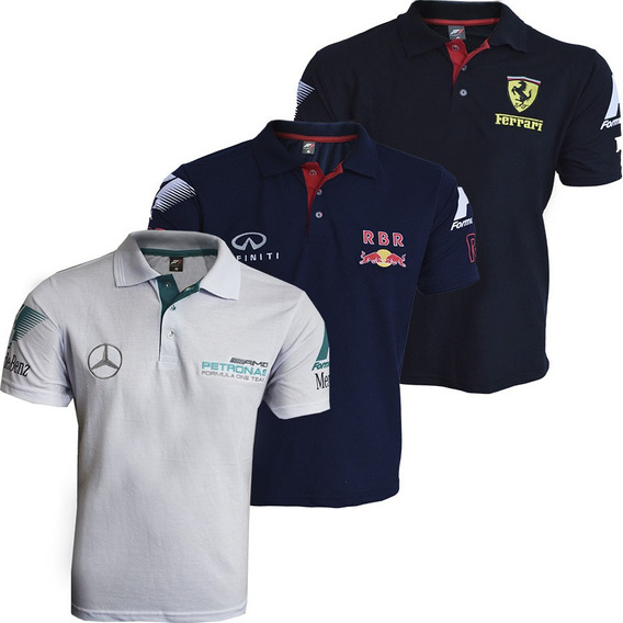 3 Camisas F1 Gola Polo