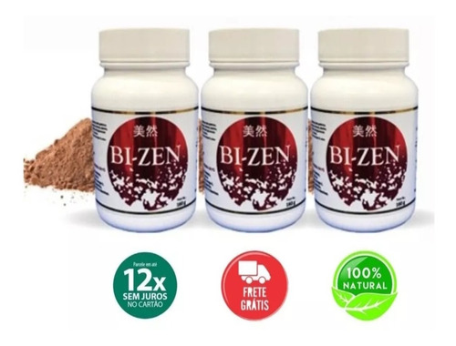 3 Unidades Bizen Suplemento P/ Saúde Do Intestino (disbiose)