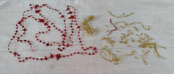 Cordão De Estrela Vermelha Dourada Bolinha Dourada Cod 3540