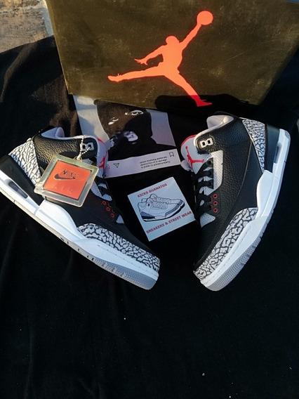 Jordan 3 Black Cement Talla 26.5 Mx