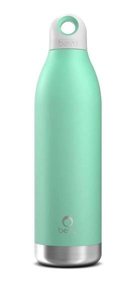 Termo / Botella Térmica Bevu De 550 Ml / 18oz Color Menta.
