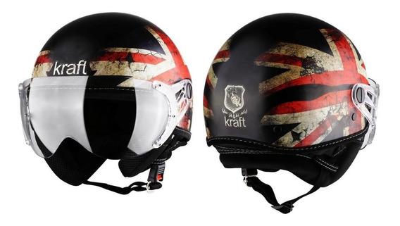 Capacete Kraft Plus Inglaterra G 58 - Custom Harley