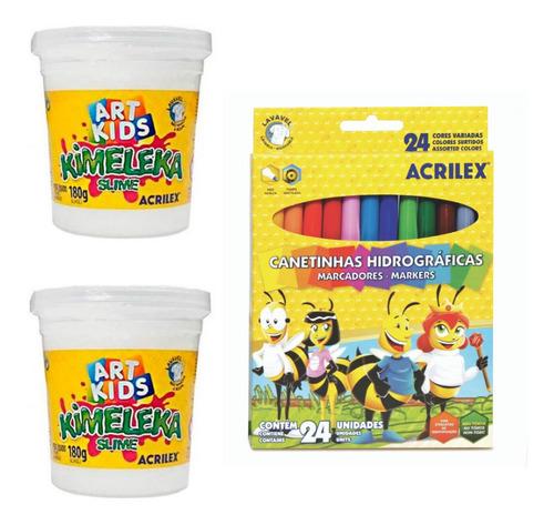Kit Para Colorear Tu Propio Slime Acrilex