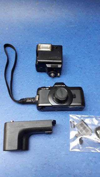 Câmera Asahi Pentax Auto 110 Com Flash E Motor