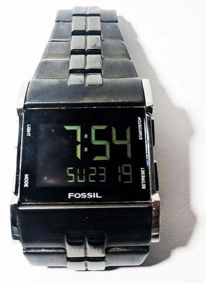 Relógio Fóssil Jr-9710 Pulseira De Metal