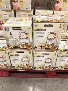Leche Almendra Organica Vainilla Kirkland 6pzs