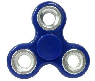 Hand Spinner Con Aro De Metal Cuerpo Azul Caja , E3064